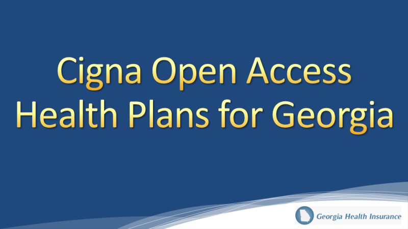 Cigna Healthcare Georgia Individual Health Insurance